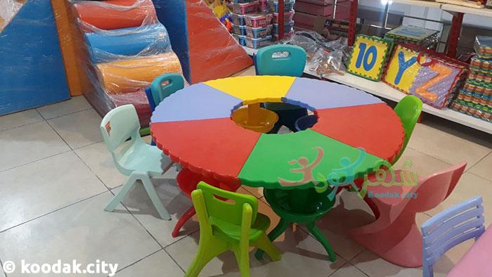میز گرد پلاستیکی کودک