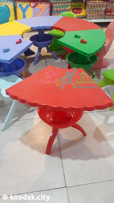 خرید میز گرد پلاستیکی کودک