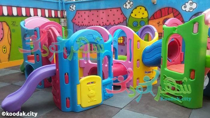 مجموعه بازی چهار برج کودک مناسب مهد کودک و خانه بازی