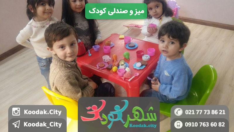 وسایل خانه بازی میز و صندلی کودک