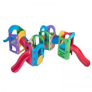 مجموعه بازی پلی اتیلن چهار برج با چهار سرسره
