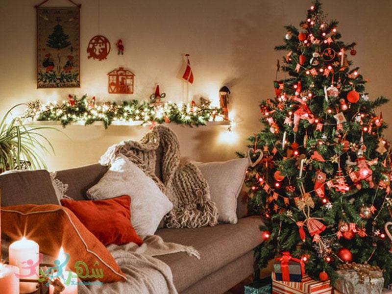 دکور کریسمس برای آتلیه عکاسی