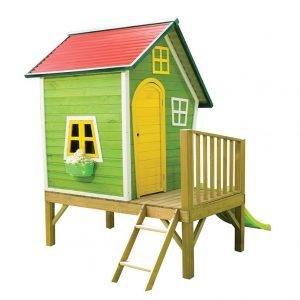 کلبه بازی کودک به همراه نردبان و سرسره