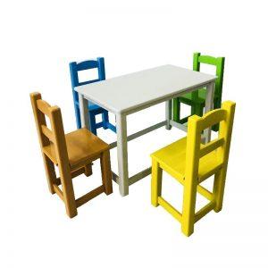 میز و صندلی کودک چهار نفره