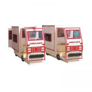 ماشین آمبولانس چوبی