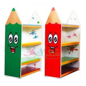 قفسه کودک چند منظوره طرح مداد رنگی